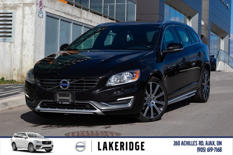 Pre-Owned 2015 Volvo V60 T6 Platinum. LTHR, MOONROOF, NAV, ALLOYS