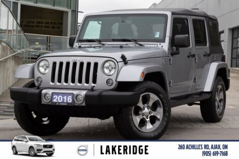 Pre-Owned 2016 Jeep Wrangler Unlimited Sahara |HARD TOP|RETRACTABLE SOFT TOP|NAV|LEATHER|HEATED SEATS