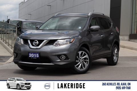 Pre-Owned 2015 Nissan Rogue SL PLATINUM |LEATHER|NAV|BLIND SPOT|360 DEG CAMERA